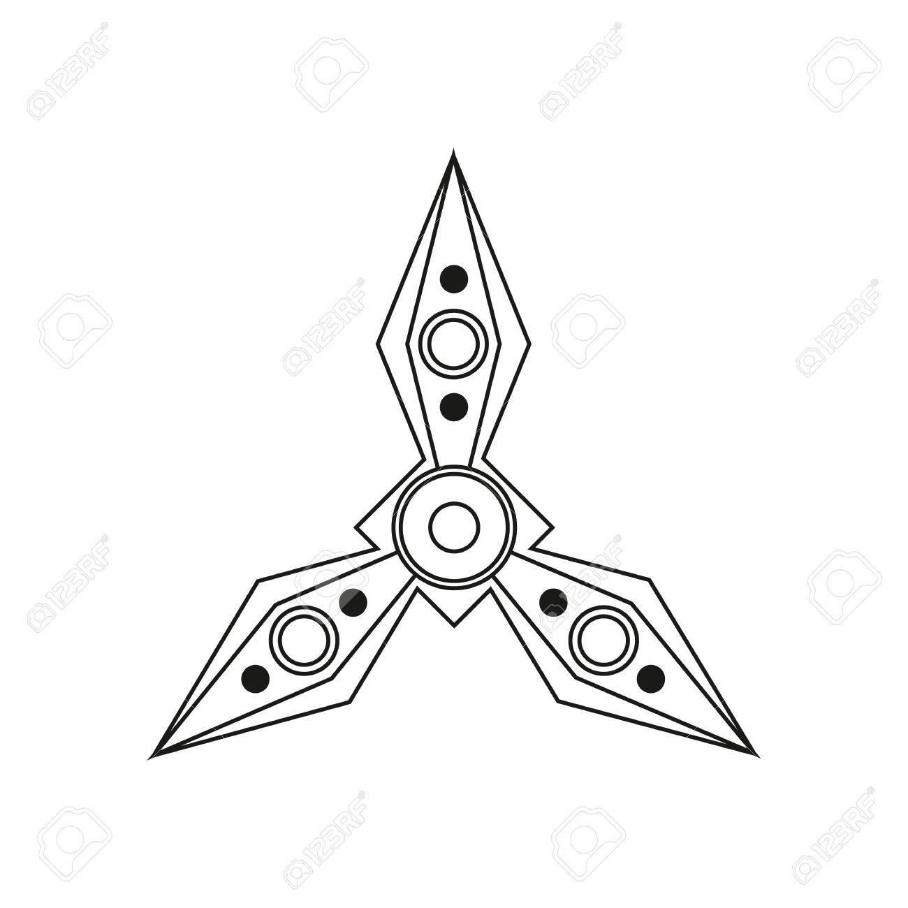 Spinner Für Die Hand Stress Relief Zappeln Spielzeug-Symbol. EDC ...