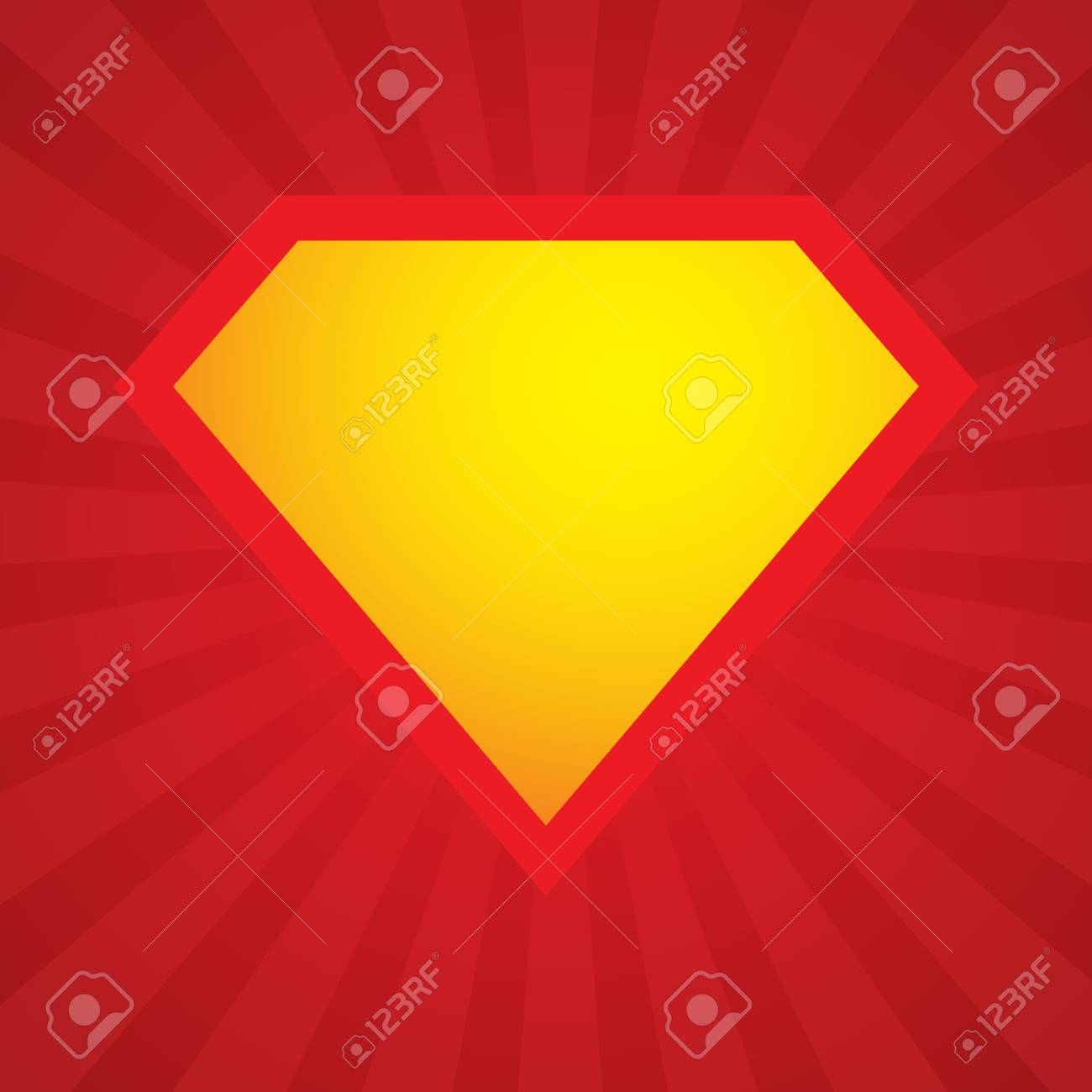 Superhero Logo Template Vector Superhero Icon Royalty Free Cliparts