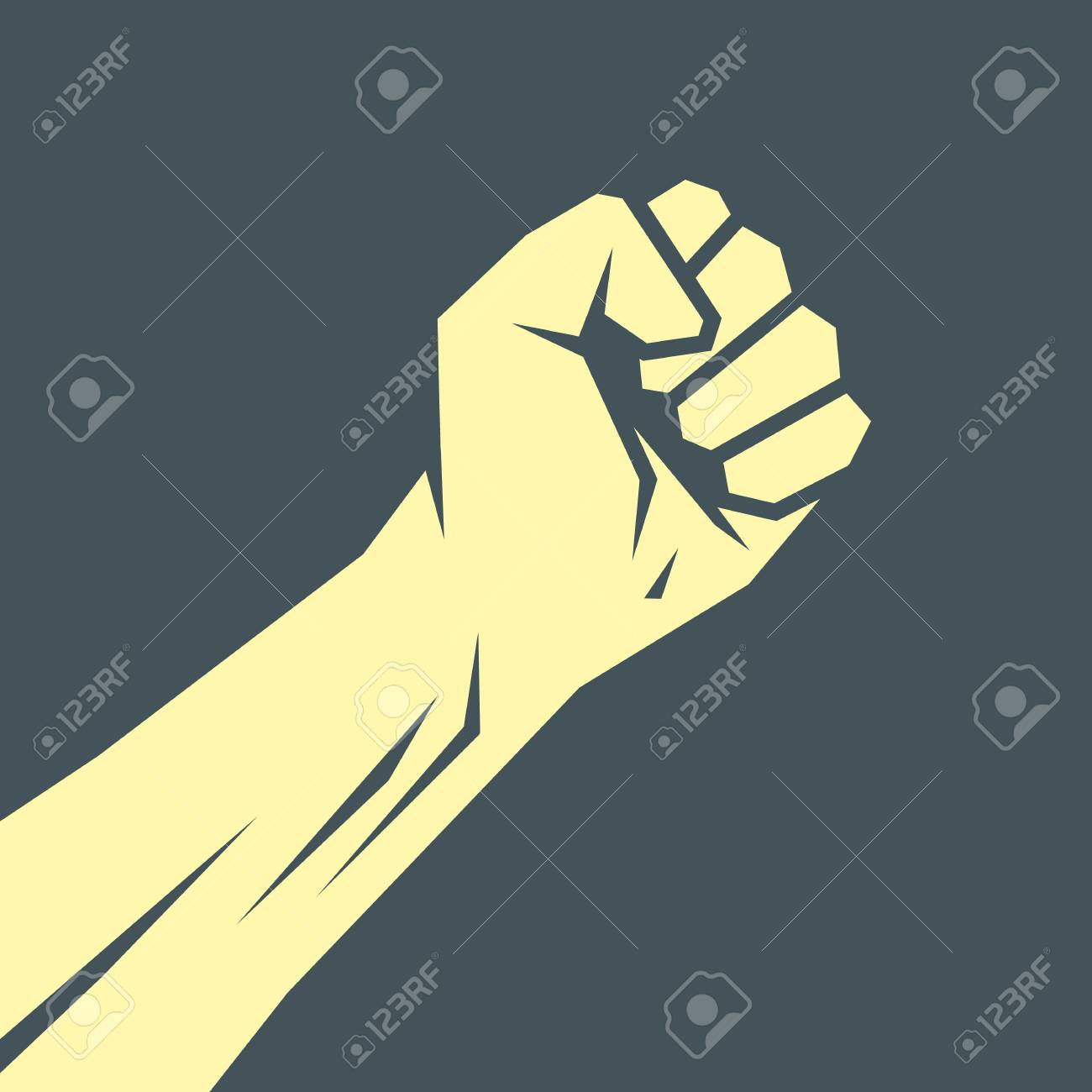superhero hand template vector superhero arm icon royalty free