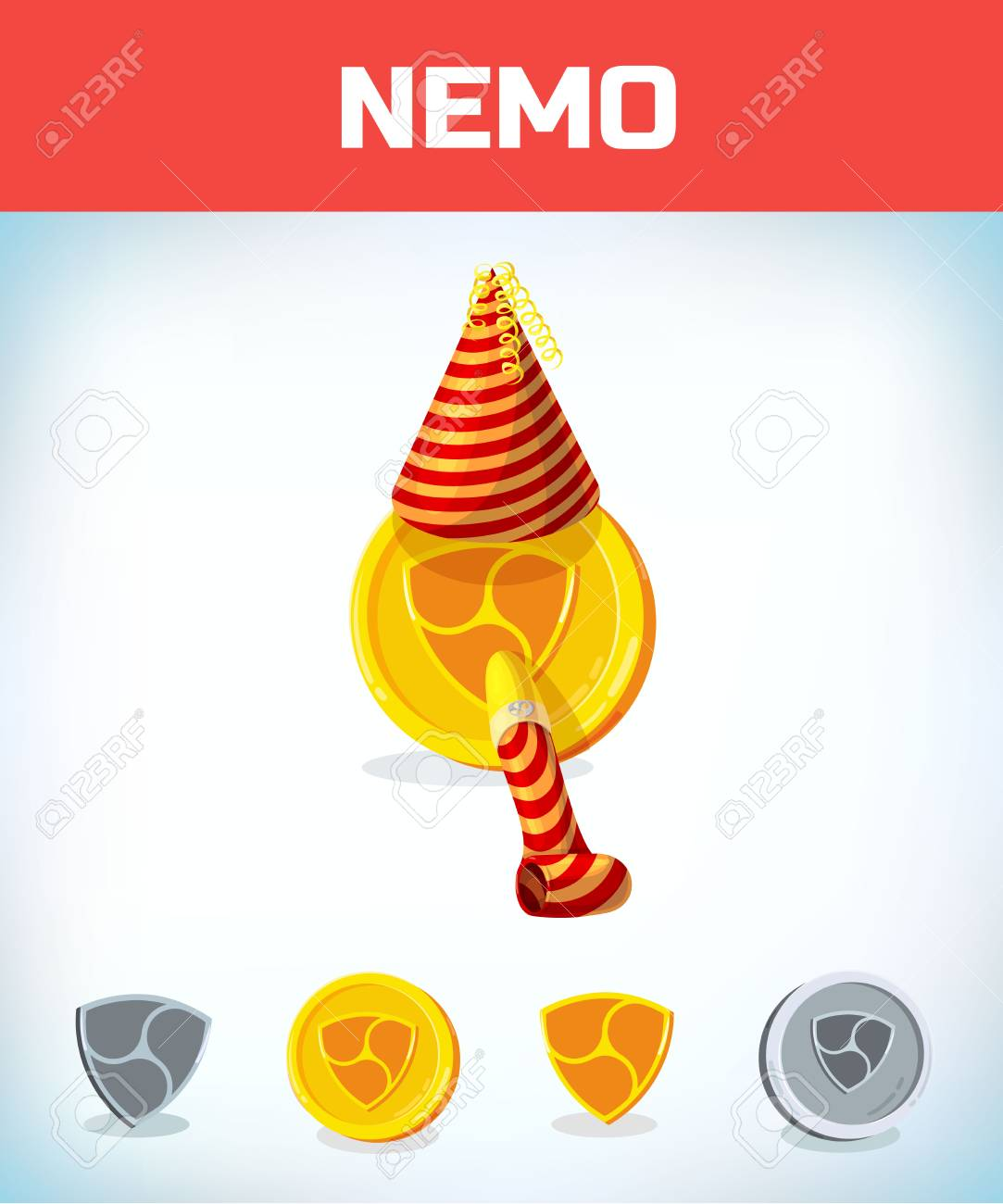 Nemo In Birthday Hat And Pipe Digital Currency Crypto Money