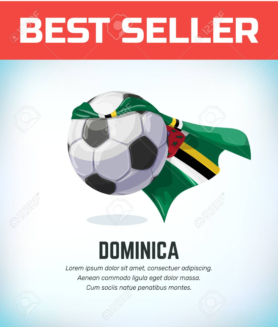 Domina football or soccer ball. Football national team. Vector illustration. - 118795720