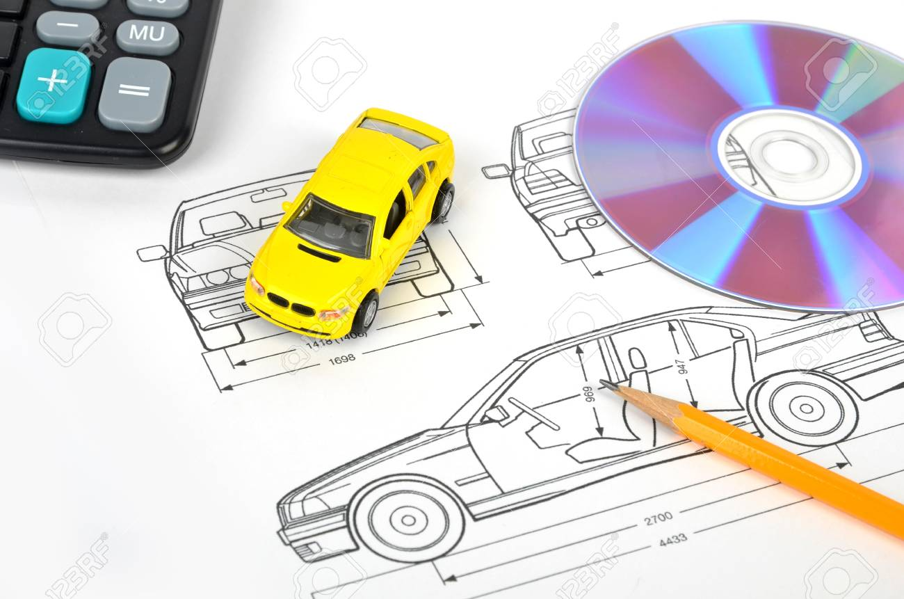 Car blueprint stock photo picture and royalty free image image car blueprint stock photo 12006751 malvernweather Choice Image