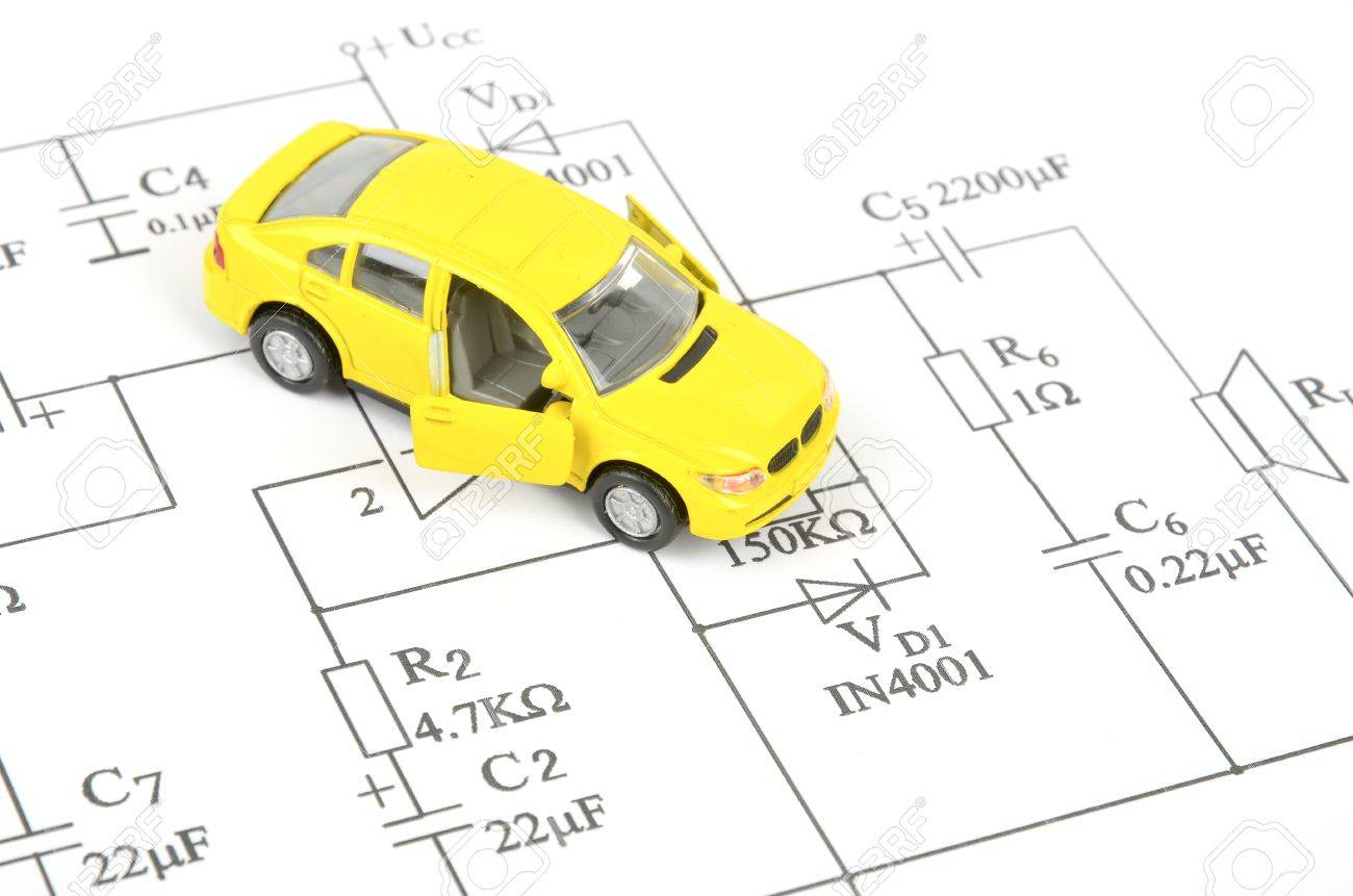 Toy Car Diagram Wiring Diagrams Mastercraft Maristar Circuit And Stock Photo Picture Royalty Free Rh 123rf Com Wireless