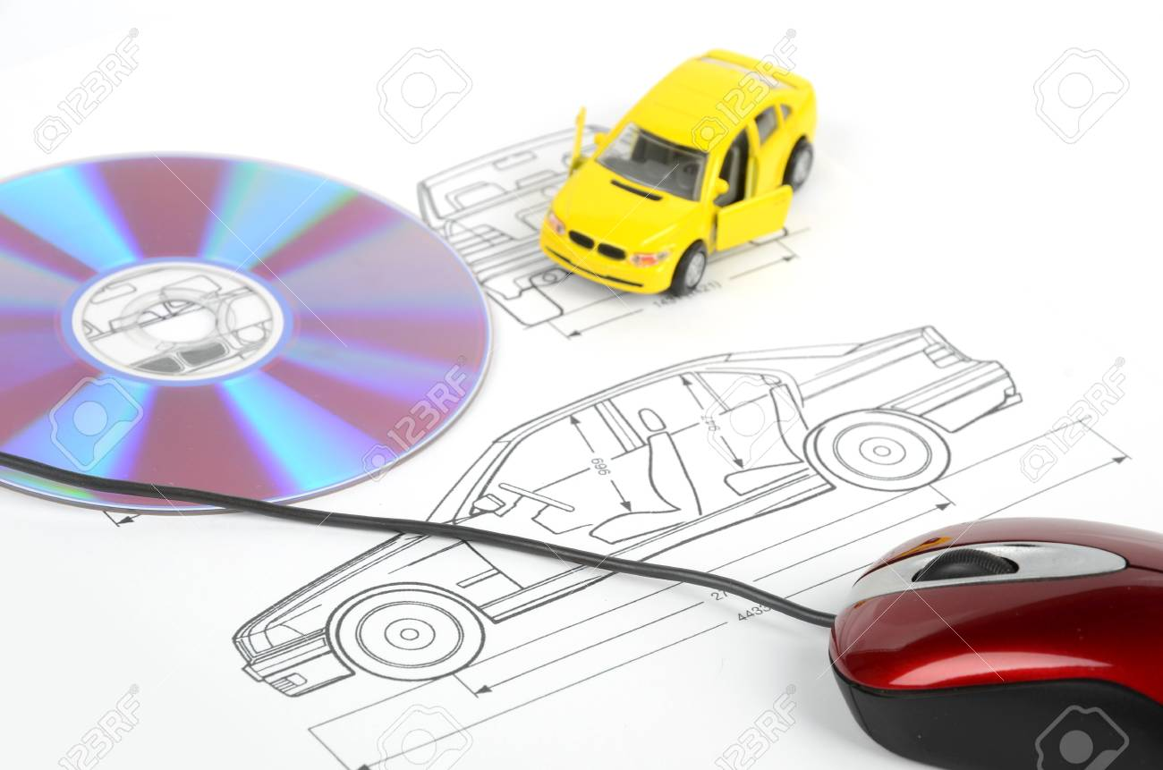 Car blueprint stock photo picture and royalty free image image car blueprint stock photo 12167167 malvernweather Image collections