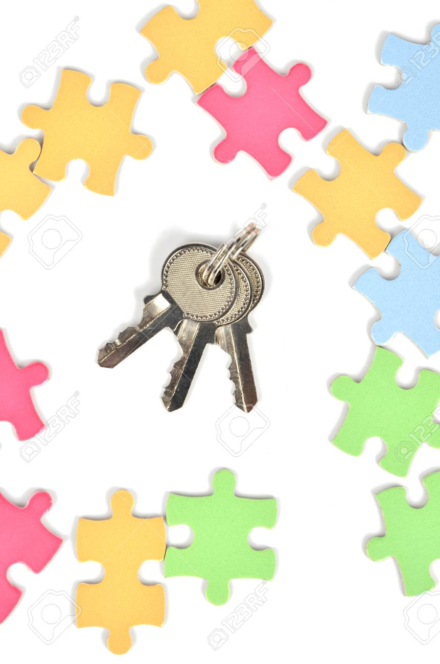 Puzzle and key Stock Photo - 12224371