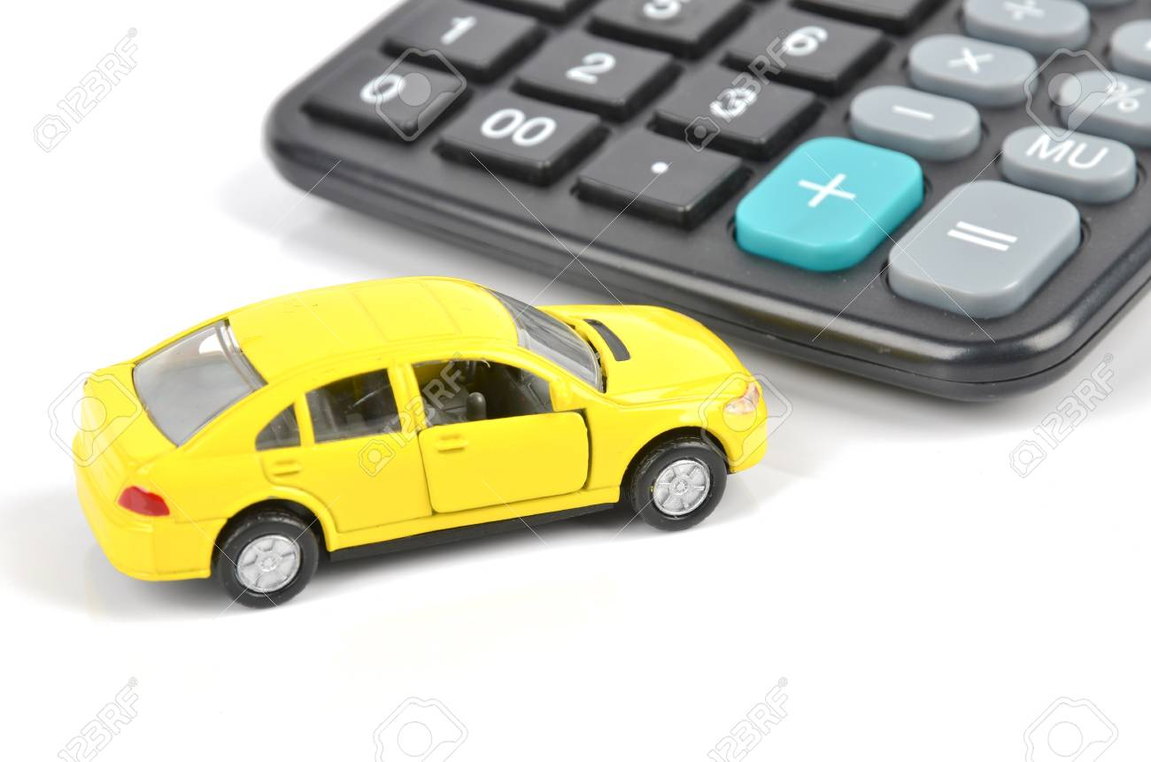 Toy car and calculator Stock Photo - 12237431