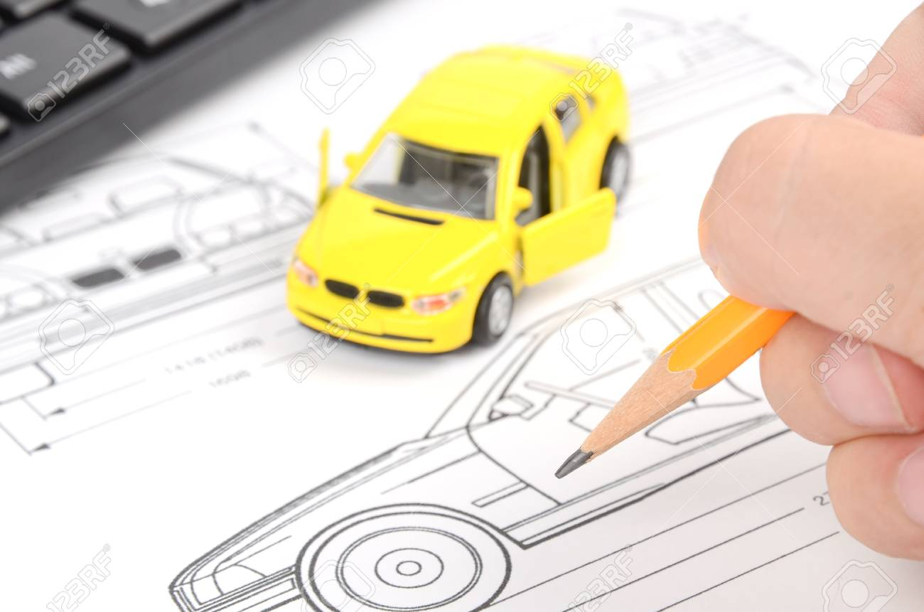 Car Blueprint Stock Photo, Picture And Royalty Free Image. Image ...