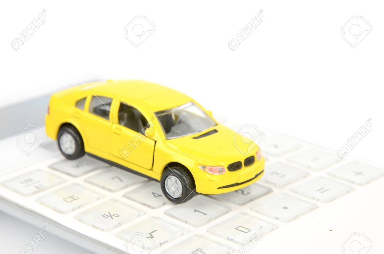 Toy car and calculator Stock Photo - 12445864