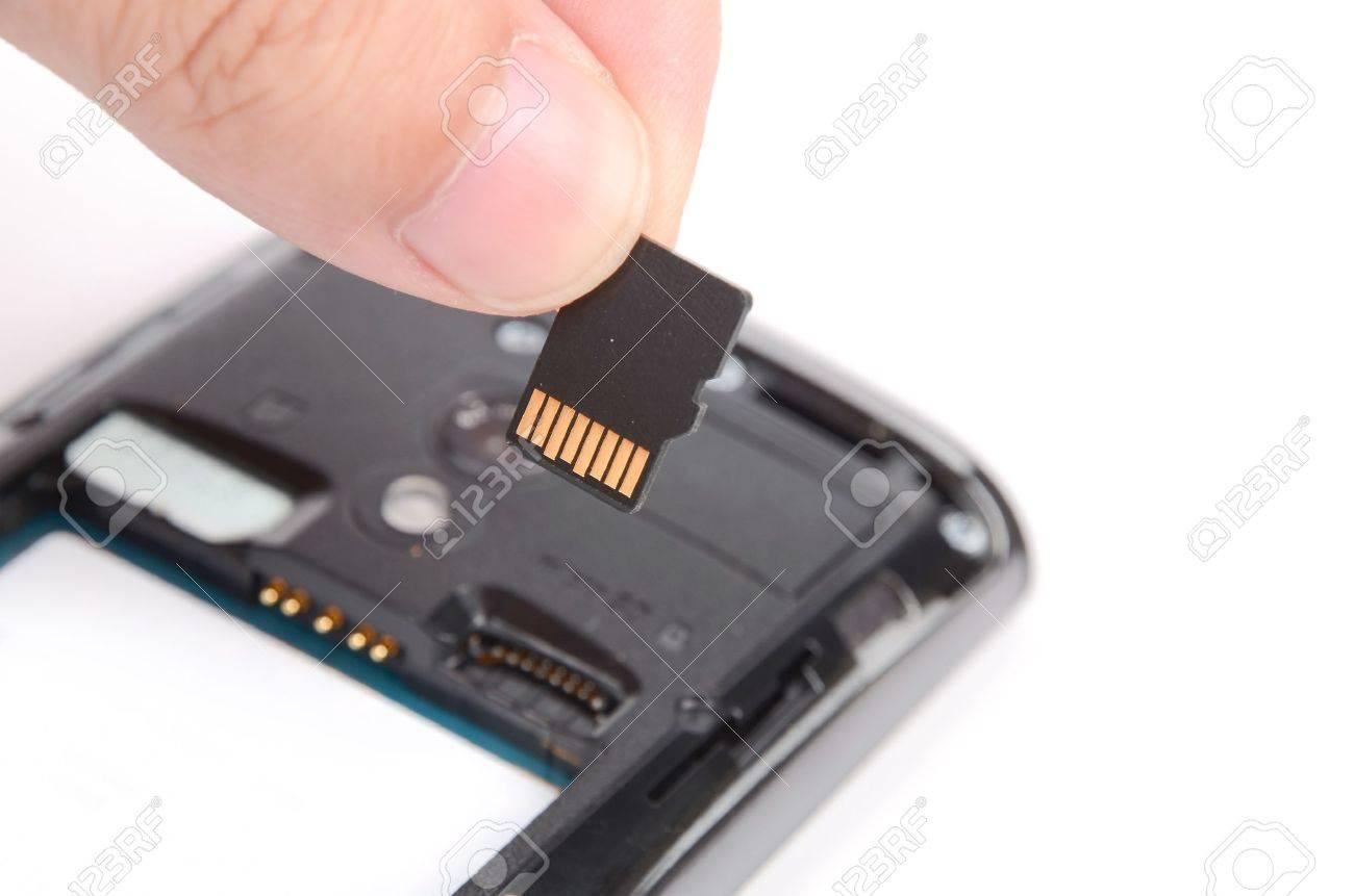 La Carte Memoire Et Telephone Portable Banque D Images Et Photos Libres De Droits Image 12448213