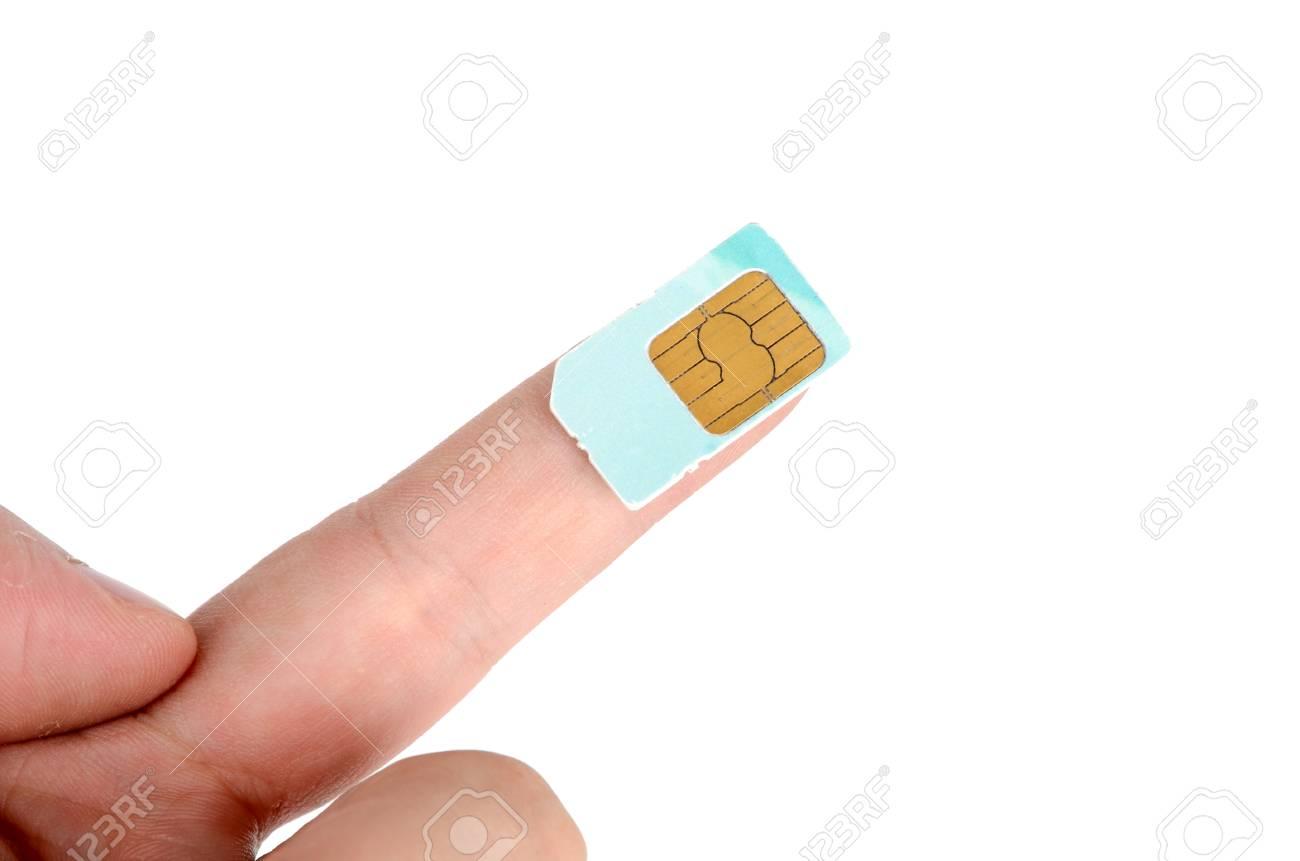 Sim card Stock Photo - 12699043