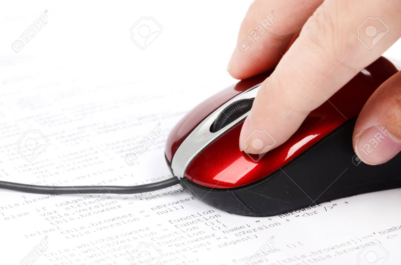 Computer mouse and html Stock Photo - 12785379