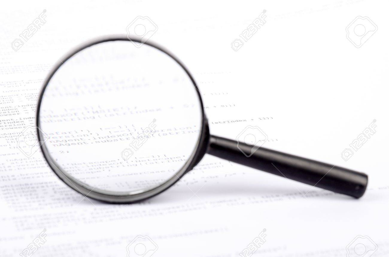 Xml code and magnifier Stock Photo - 12875352