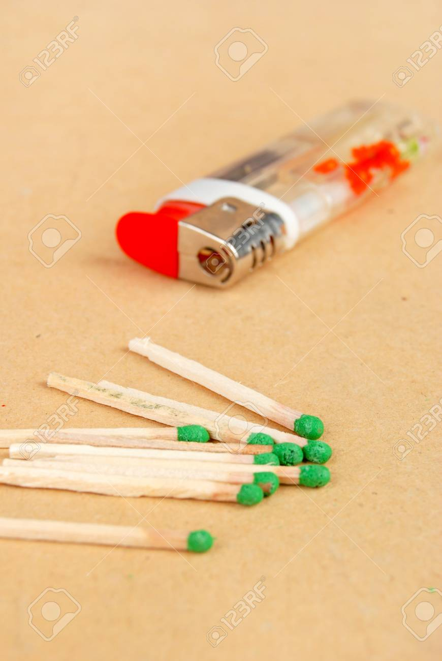 Match and lighter Stock Photo - 13263206