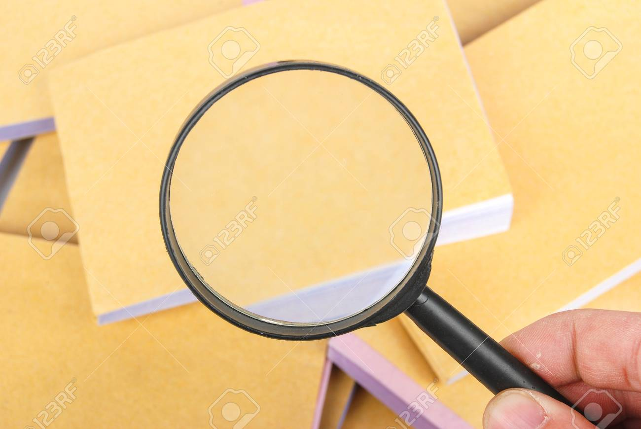 Magnifier and document Stock Photo - 13370642