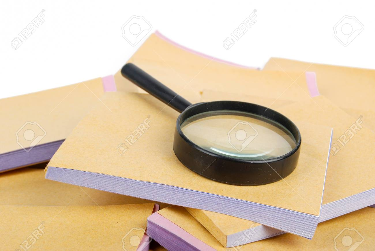 Magnifier and document Stock Photo - 13371150