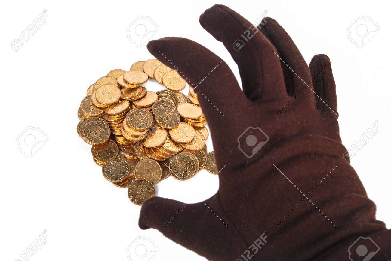 Gloves and coin Stock Photo - 13375983