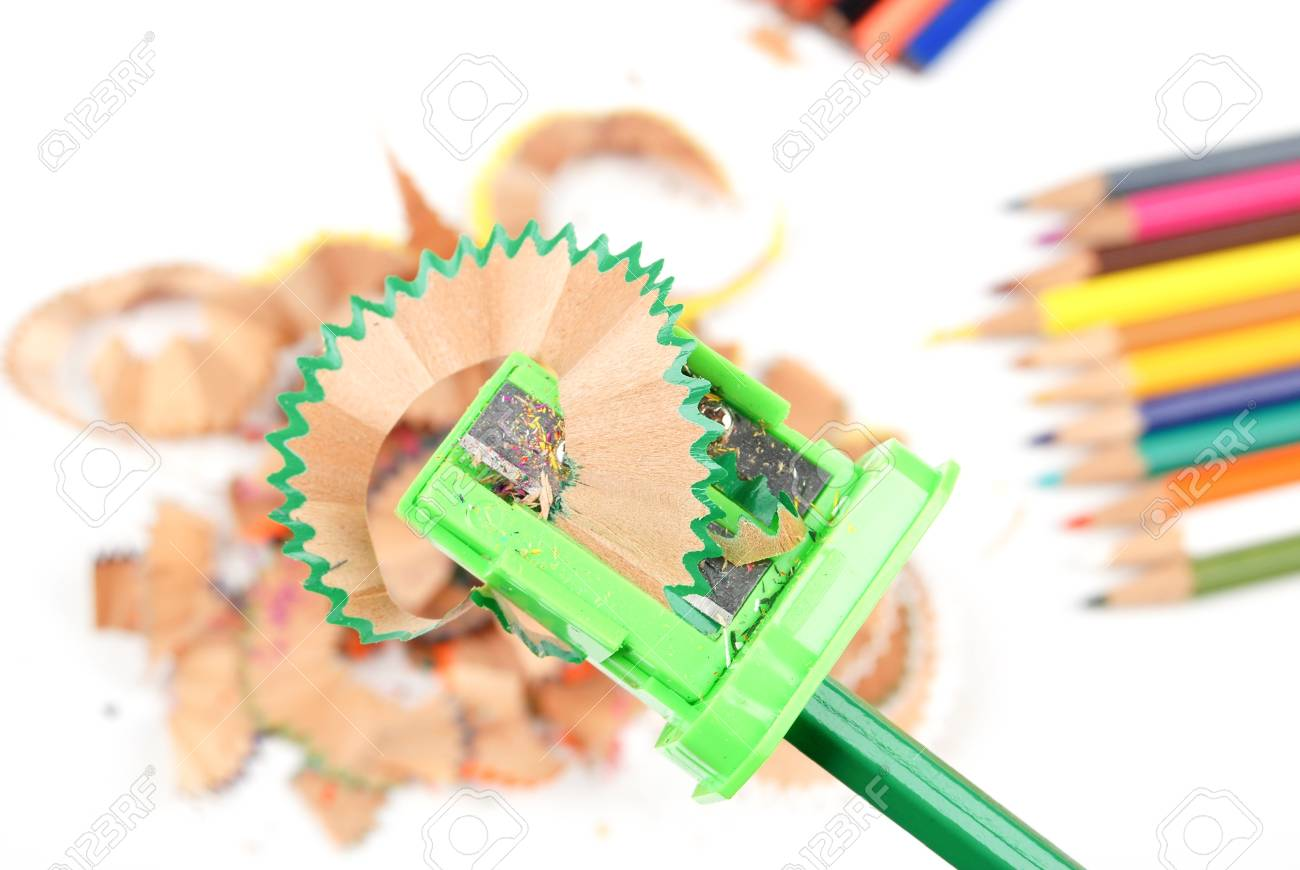 Sharpener and color pencil Stock Photo - 13447522