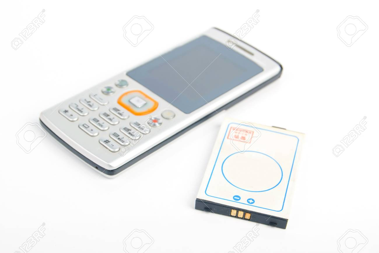 Cellphone and battery Stock Photo - 13830085