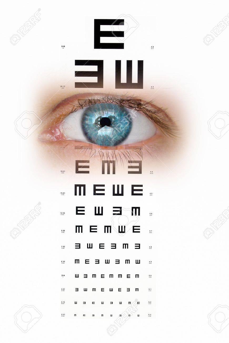 Eye chart Stock Photo - 13908538