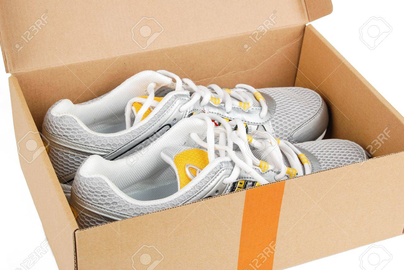 Sport shoes in box Stock Photo - 14050530 & Sport Shoes In Box Stock Photo Picture And Royalty Free Image ... Aboutintivar.Com