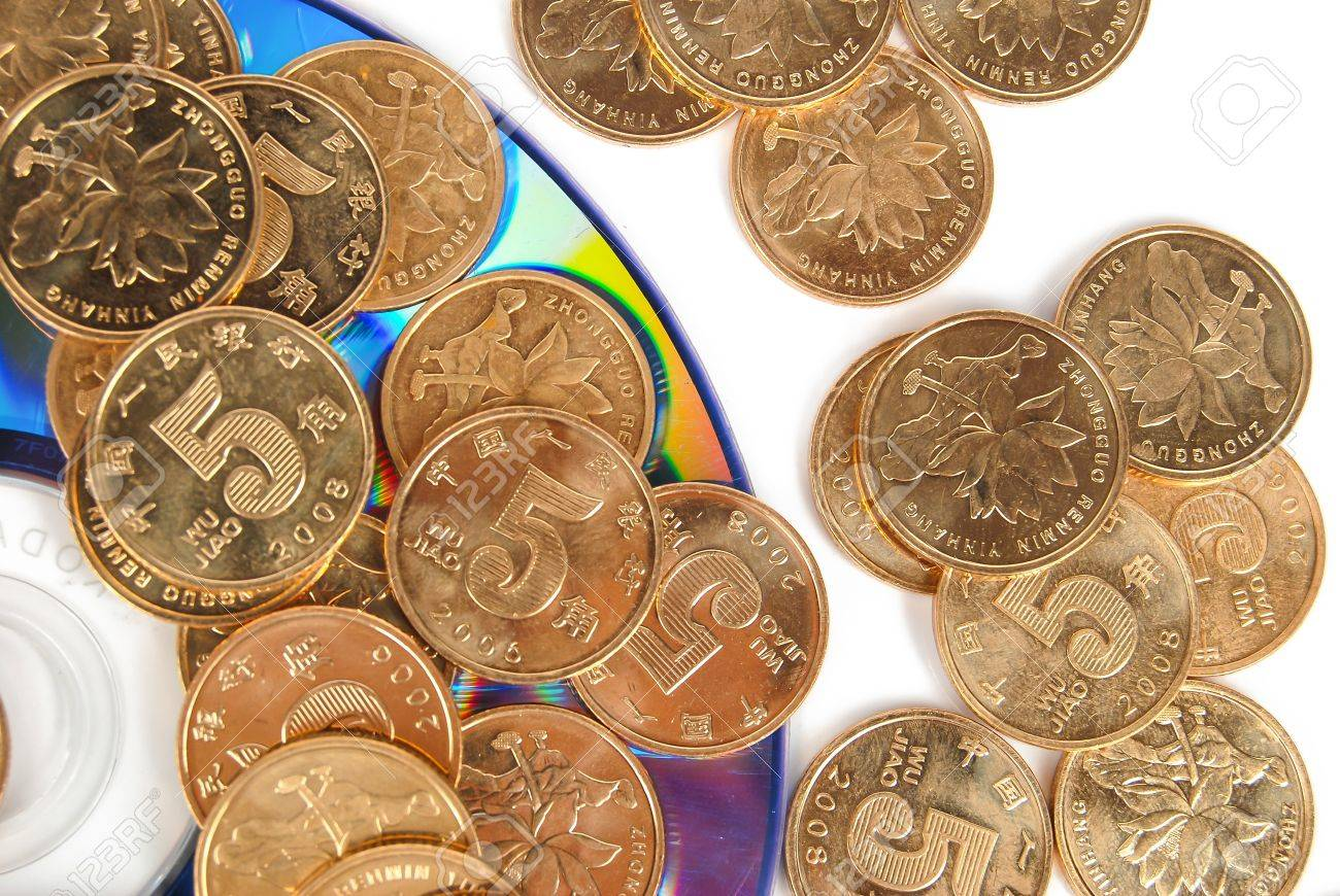 Coin with DVD Stock Photo - 14153810