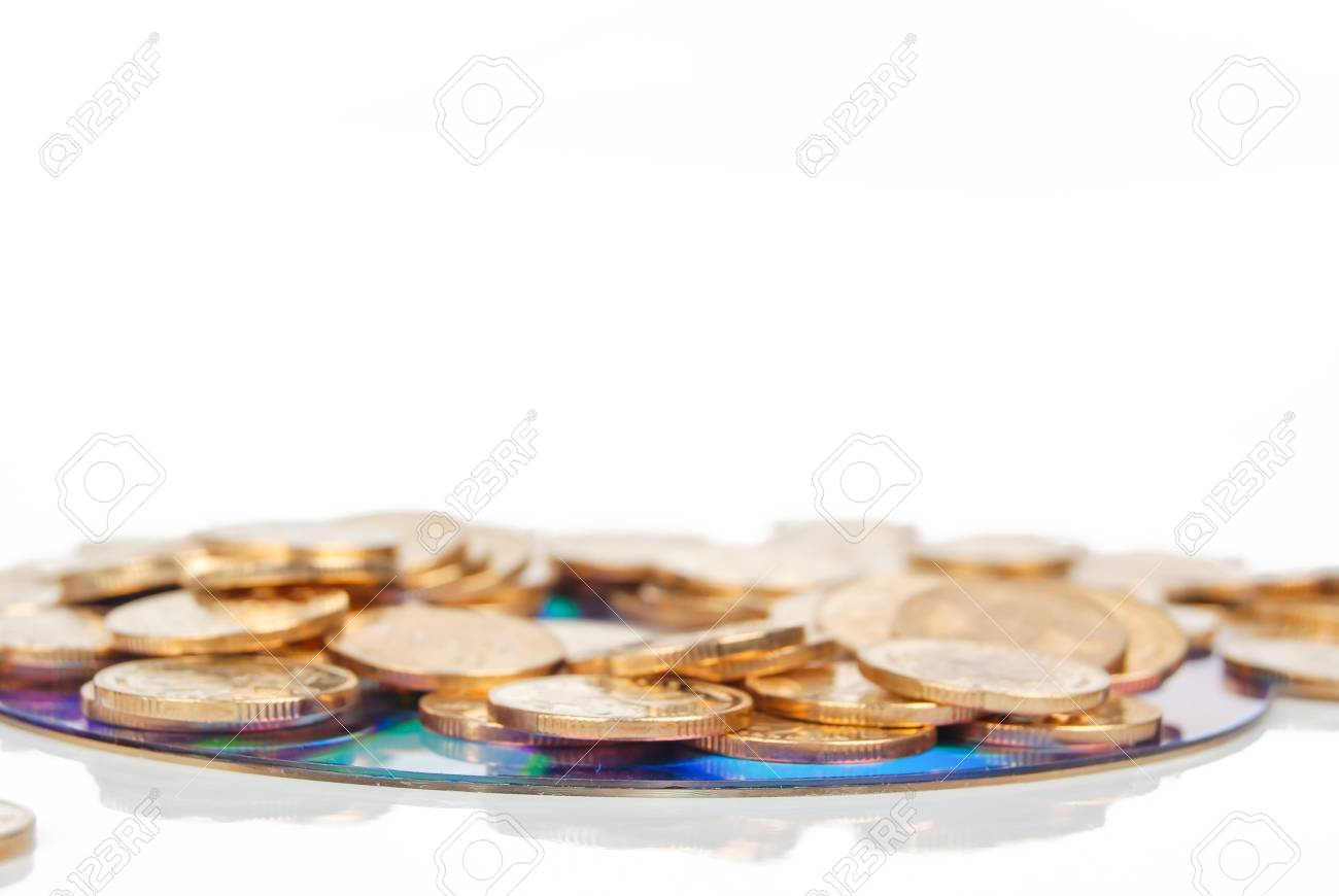 Coin with DVD Stock Photo - 14152853