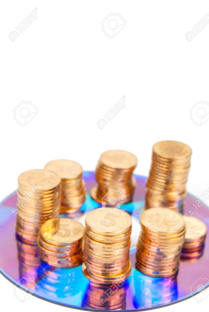 Coin with DVD Stock Photo - 14153163