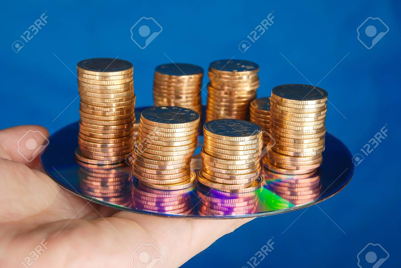 Coin with DVD Stock Photo - 14153774