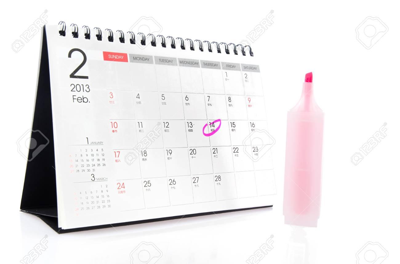Desk calendar Stock Photo - 17226770