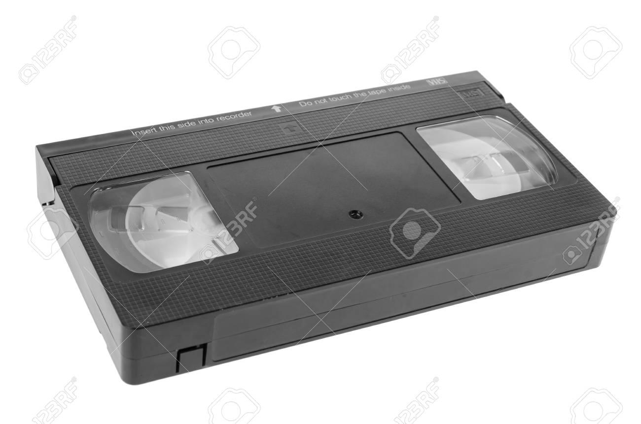 Video Vhs Cassette De Cinta Aisladas Sobre Fondo Blanco Fotos