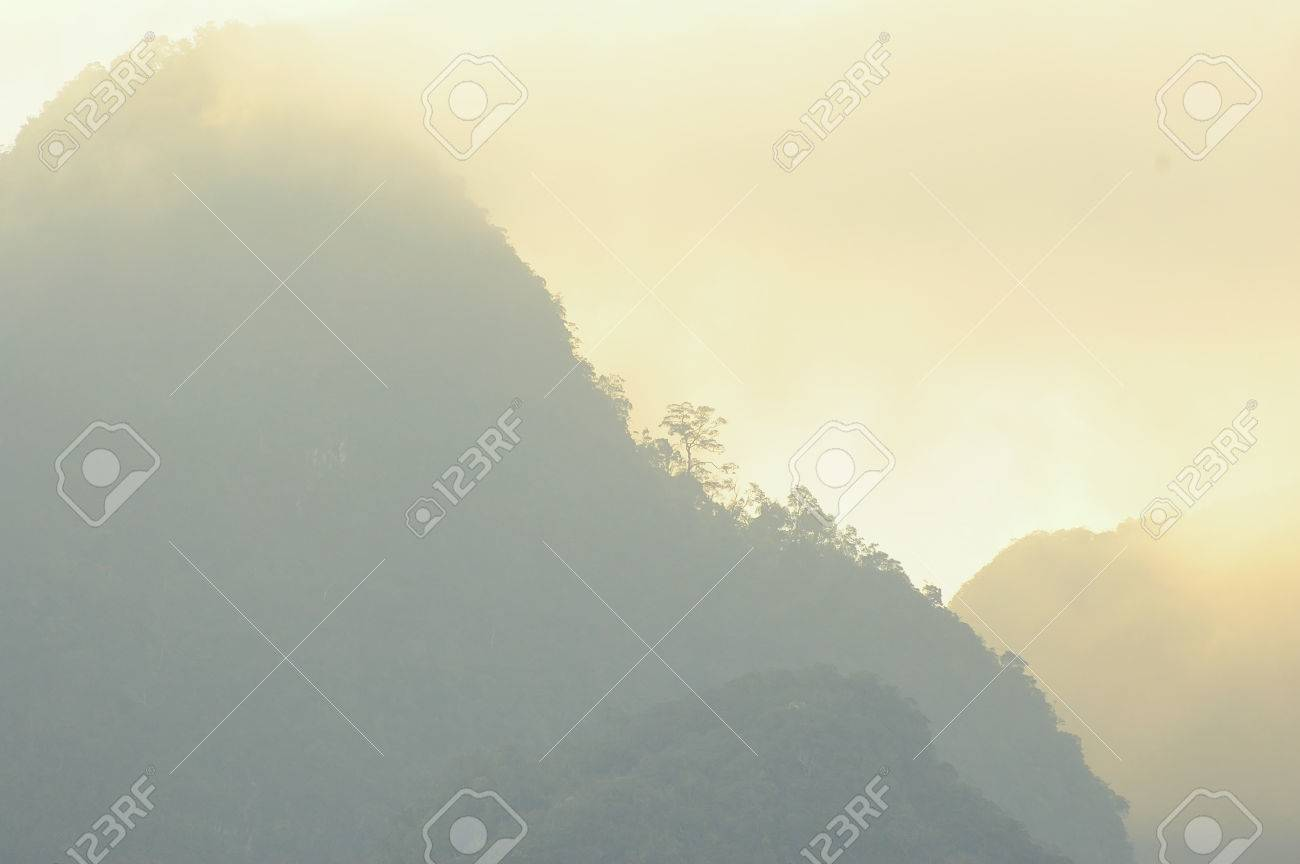 Beautiful mountains and river natural attractions in Ratchaprapha Stock Photo - 23167743
