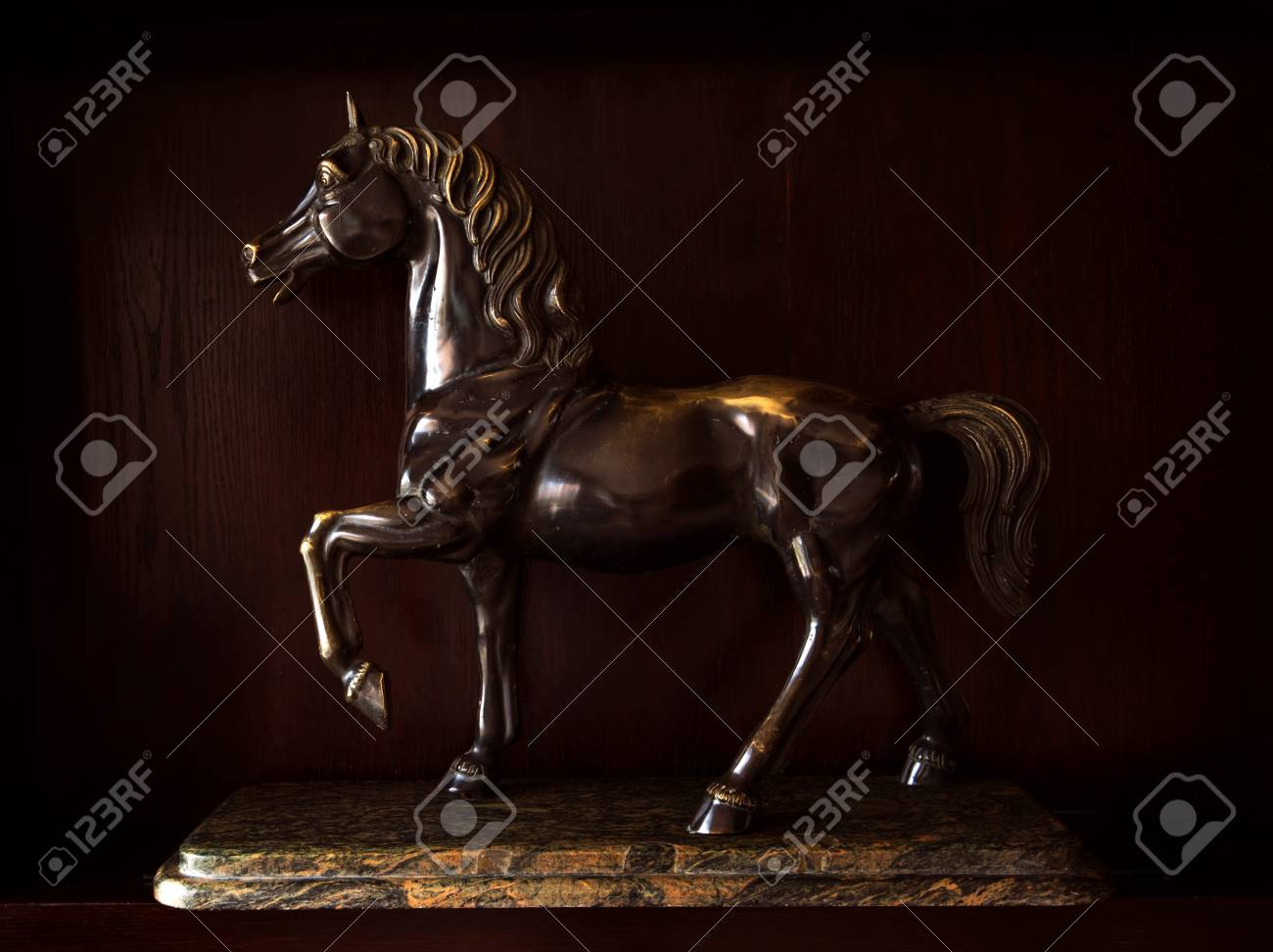 Statue Of Arabian Horse From Metal Stock Photo Picture And Royalty Free Image Image 43670255