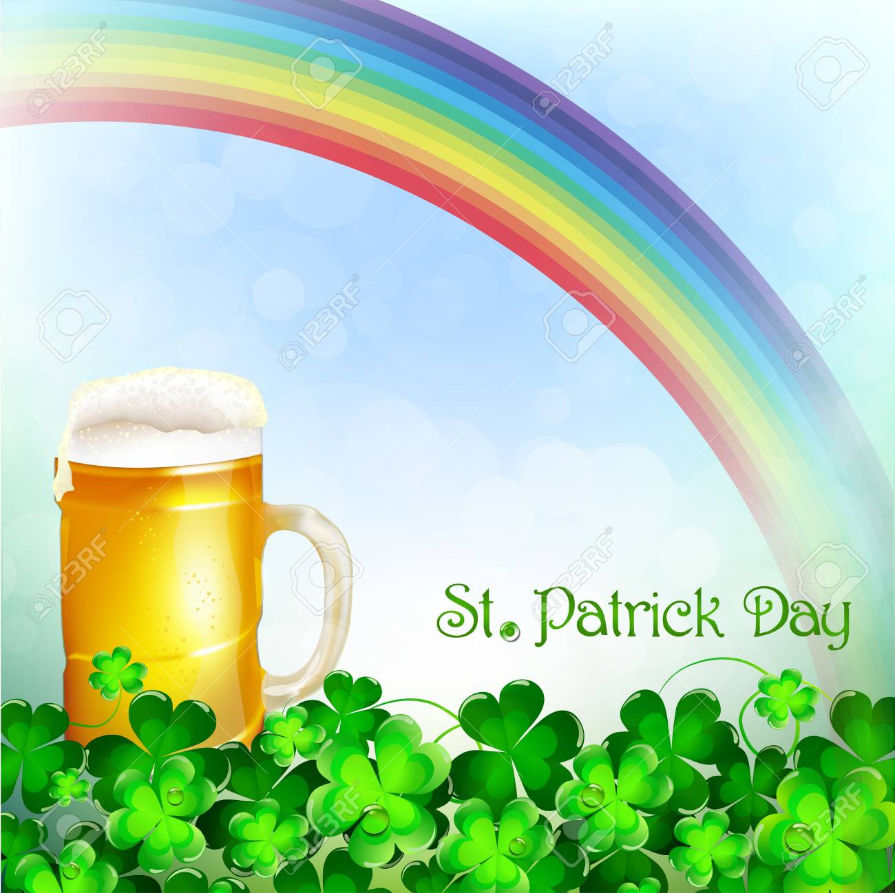 St Patrick s Day background Stock Vector - 18048413