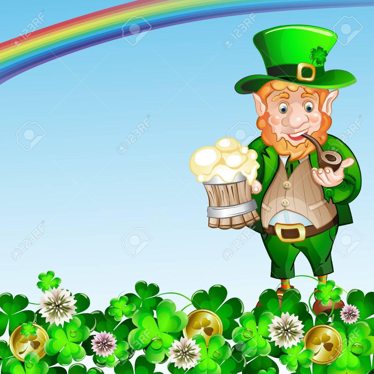 cute cartoon leprechaun st patrick s day royalty free cliparts