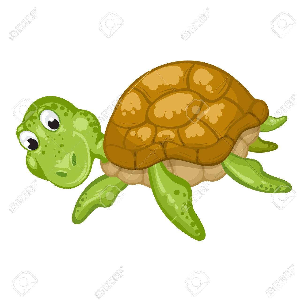 cute sea turtle cartoon ロイヤリティフリークリップアート ベクター