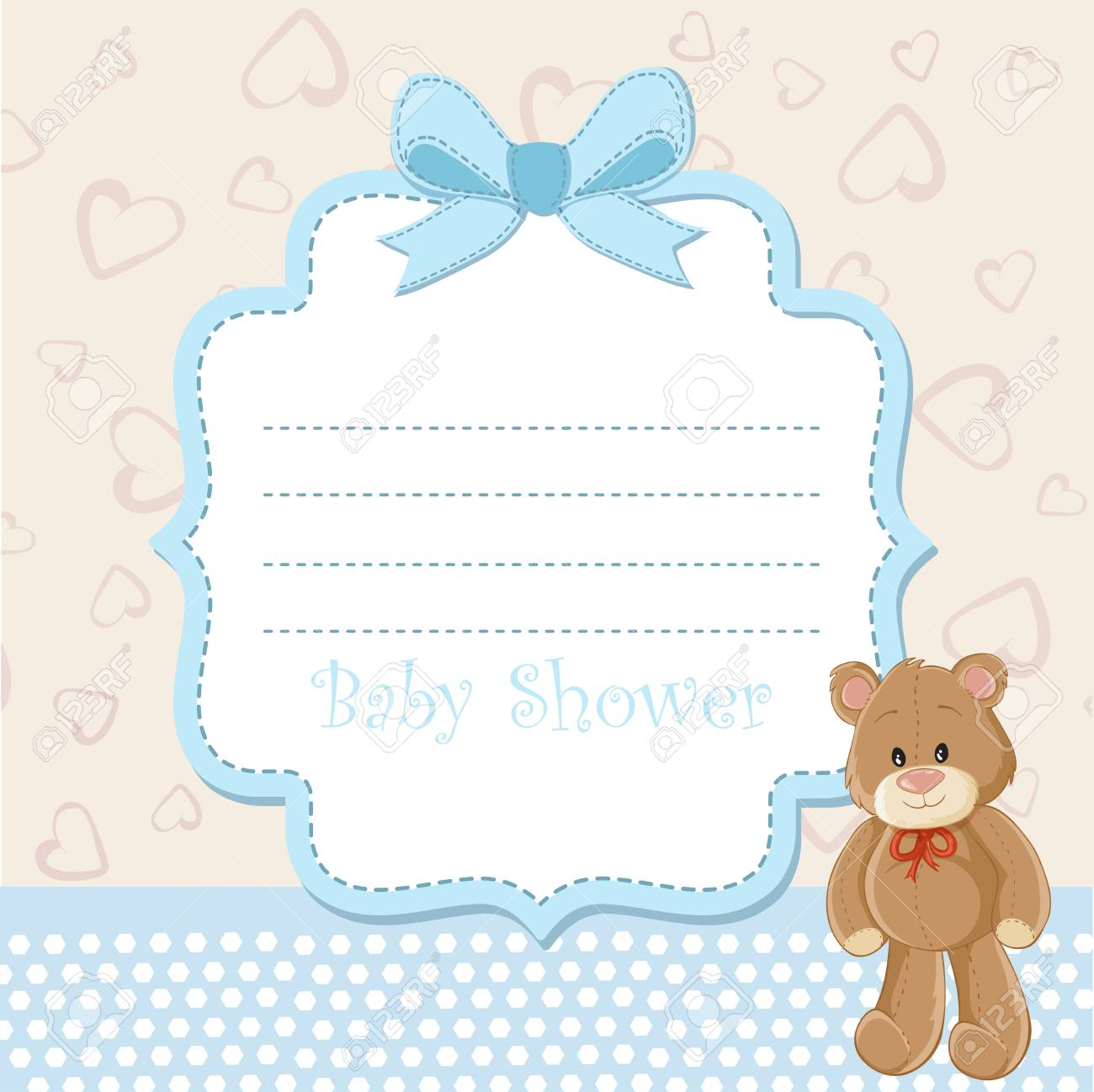 Baby shower invitation with teddy bear royalty free cliparts baby shower invitation with teddy bear stock vector 59731718 filmwisefo