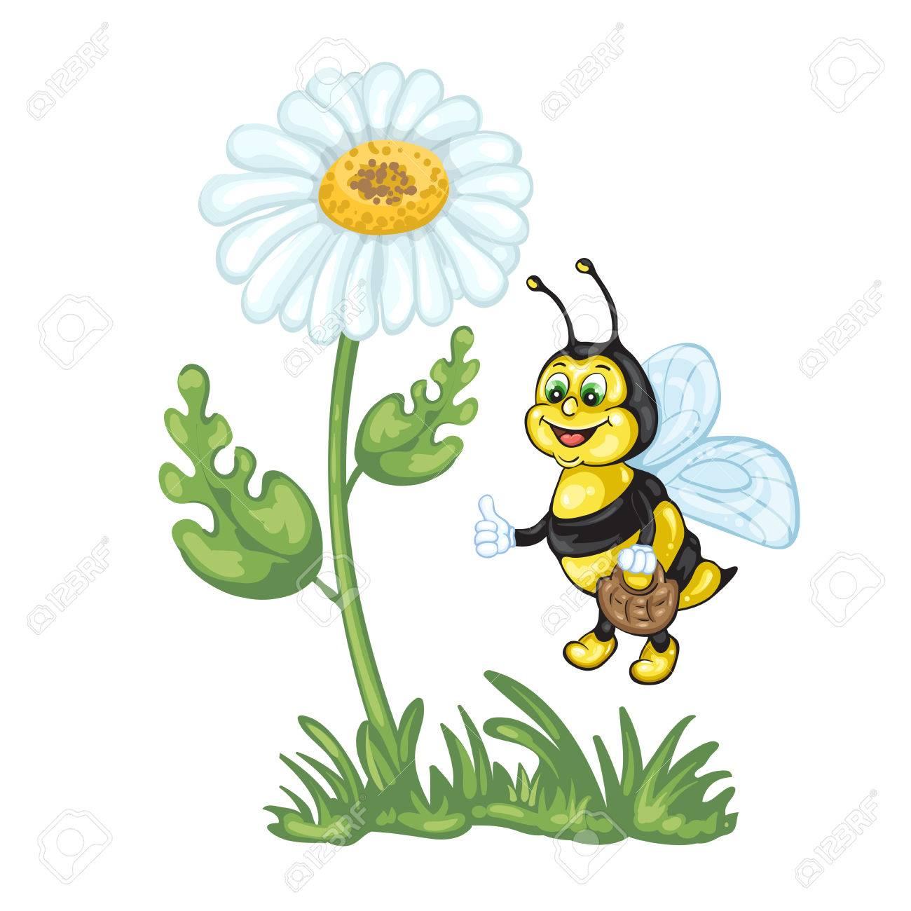 Illustration of cute cartoon bee and daisy flower royalty free illustration of cute cartoon bee and daisy flower stock vector 59731891 izmirmasajfo
