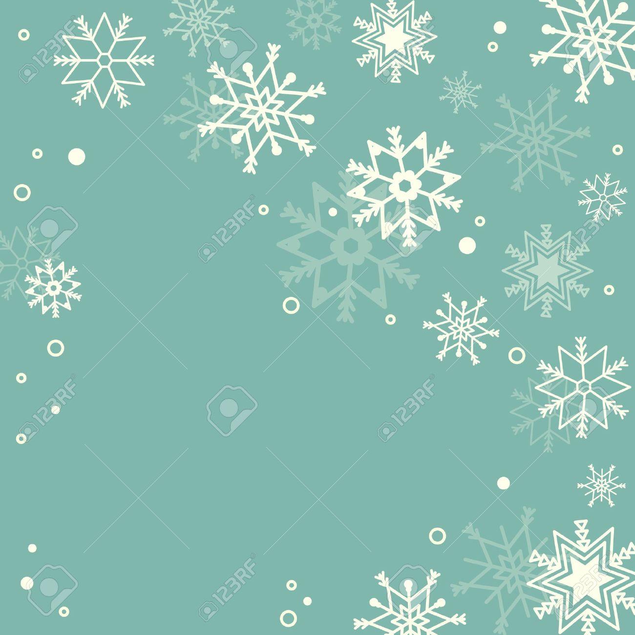 Subtle snowflakes pastel background - 17150480