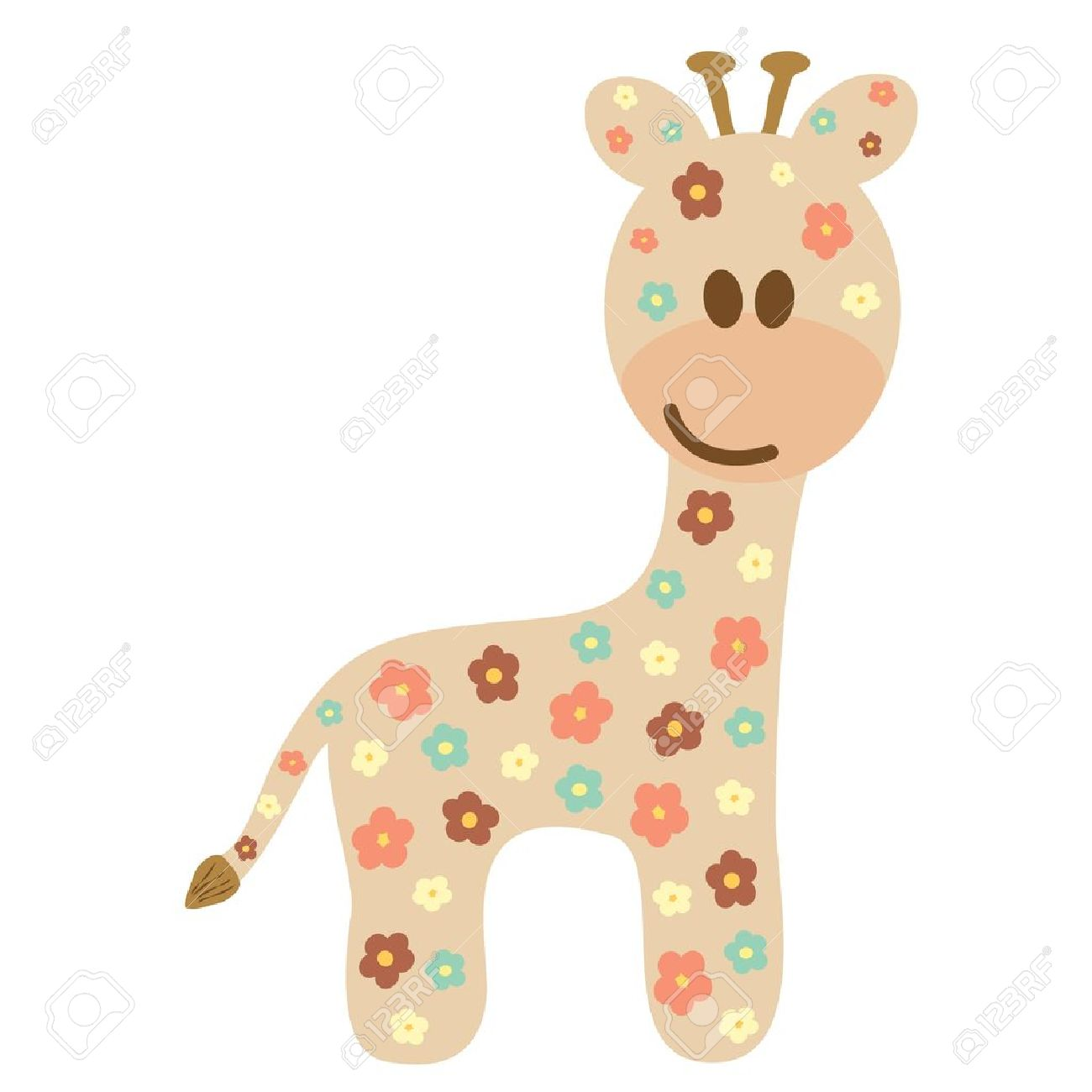 baby giraffe like a cute style royalty free cliparts vectors and