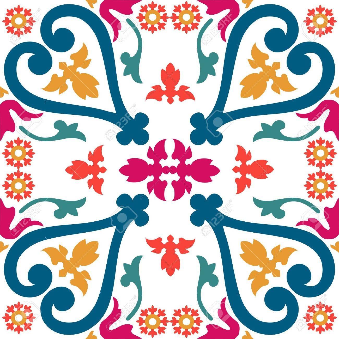 Beautiful seamless ornamental tile background illustration - 19052449