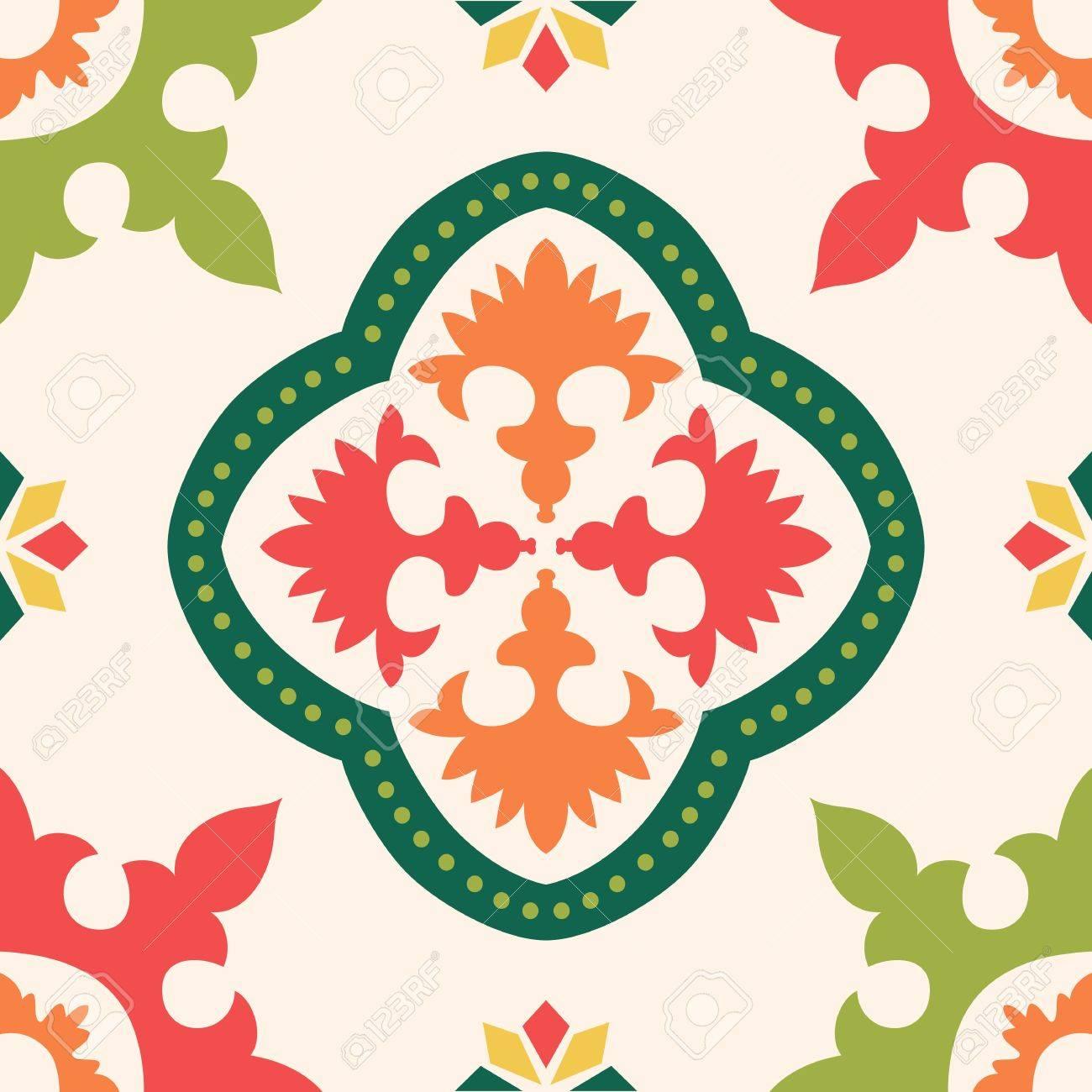 Beautiful seamless ornamental tile background illustration - 19052426