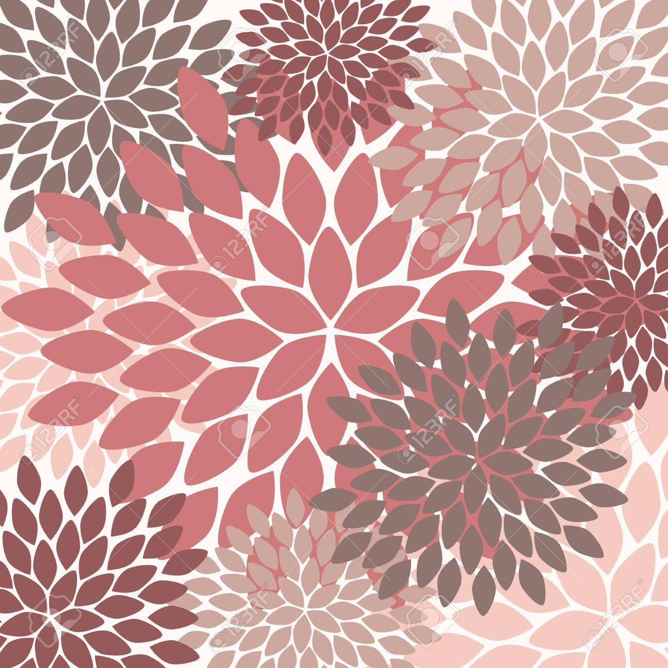 Seamless Pattern Modern Floral Texture Endless Abstract