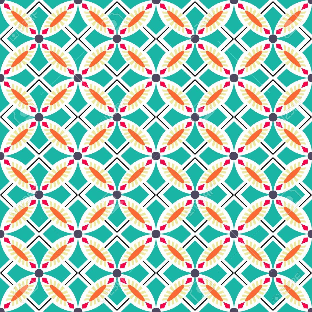 Beautiful seamless ornamental tile background illustration - 21747001