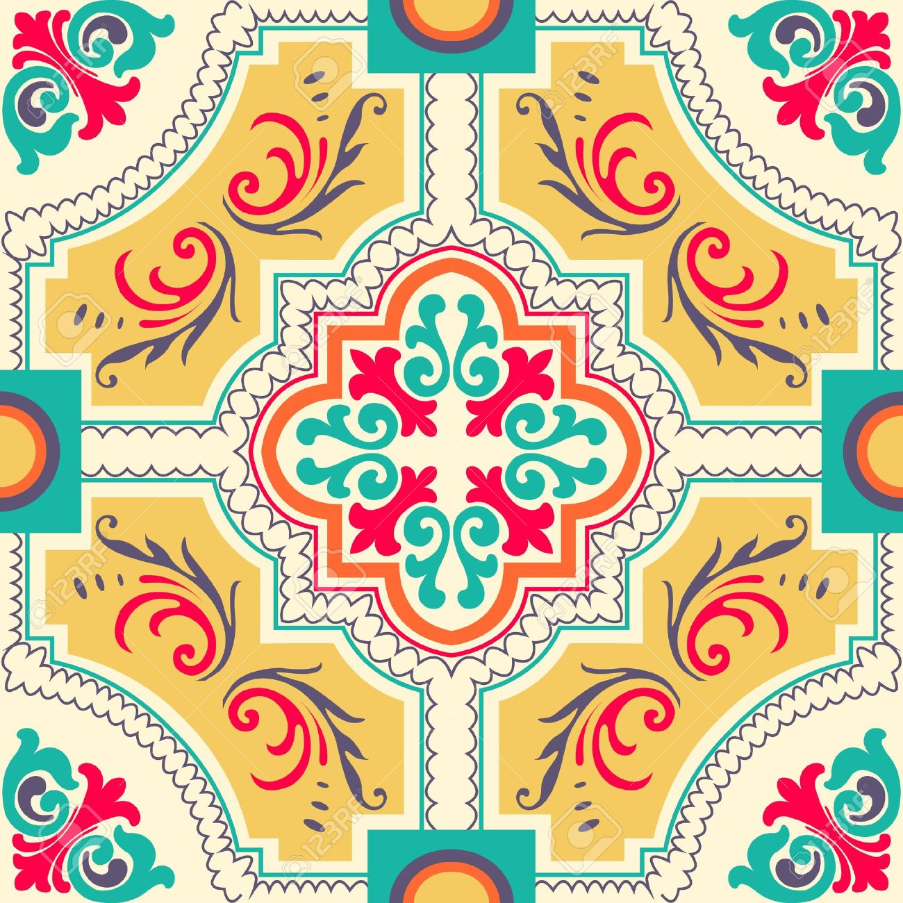 Background vintage flower. Seamless floral pattern. Abstract wallpaper. Texture royal vector. Fabric illustration. Stock Vector - 22007352
