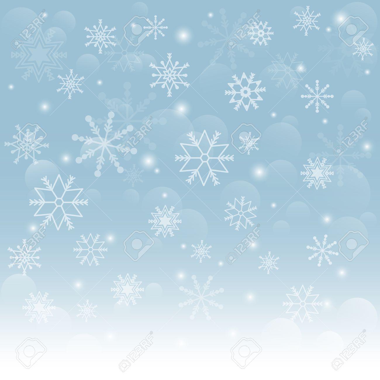 Christmas snowflakes background Falling snowflakes on snow Vector illustration - 22707220