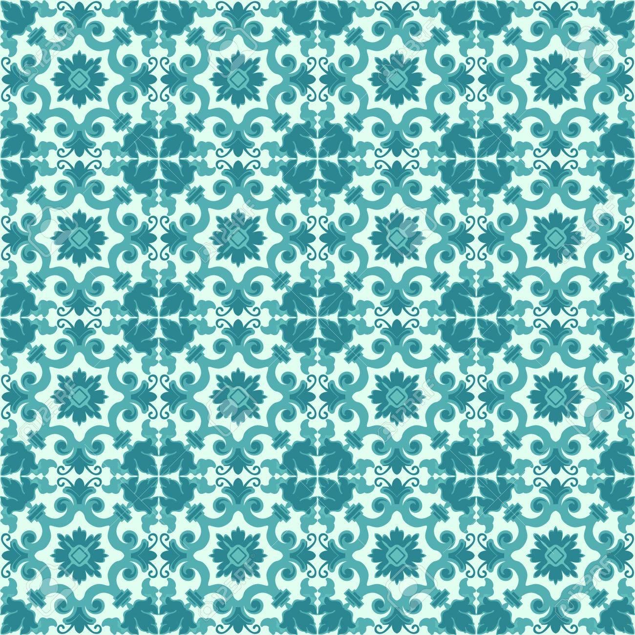 Fleur Fond Vintage Seamless Floral Pattern Resume Papier Peint