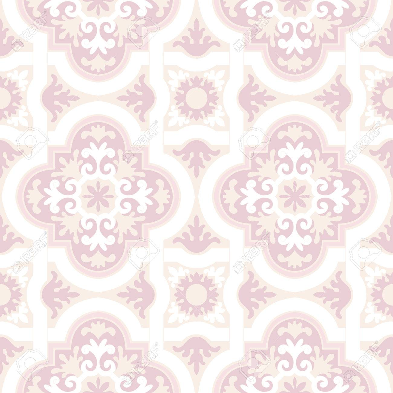 Background Vintage Flower Seamless Floral Pattern Abstract Wallpaper Texture Royal Vector Fabric