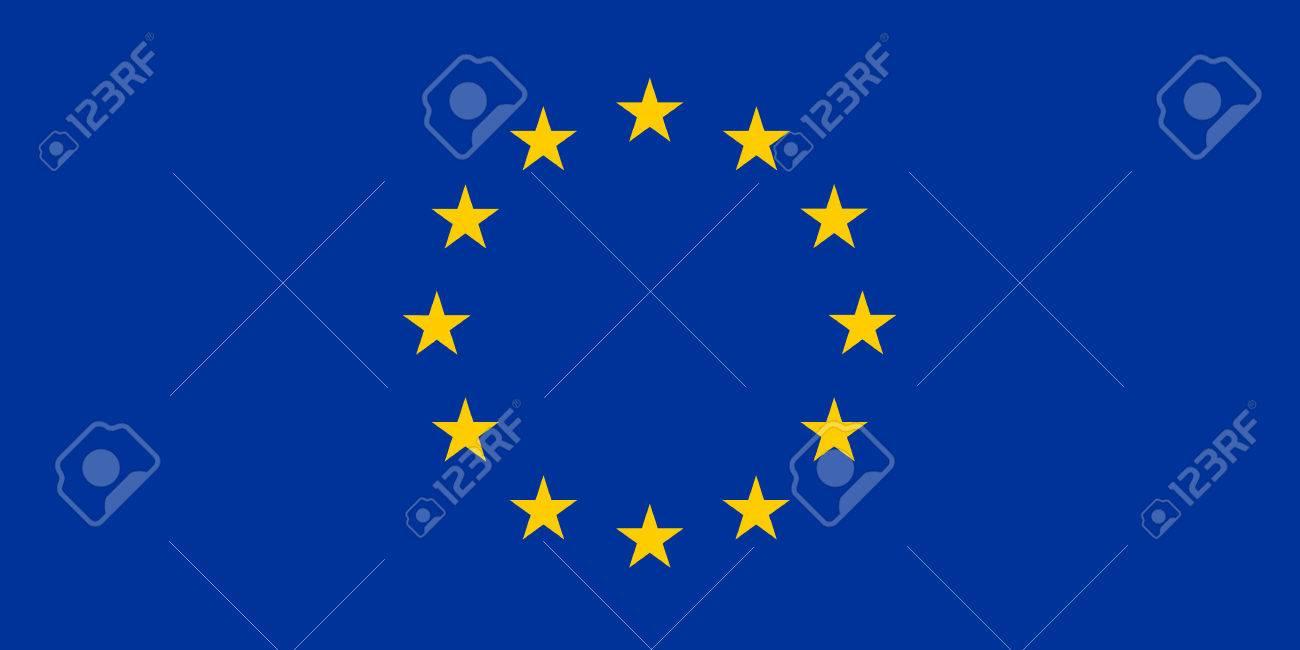 Flag of European Union. Vector Illustration - 59638169