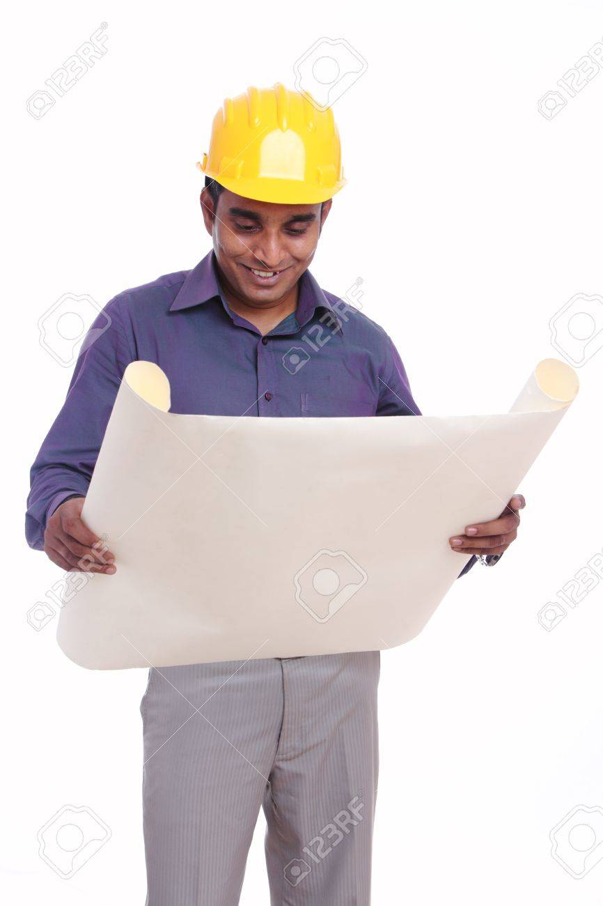 Young indian architect posing to the camera Stock Photo - 12223358