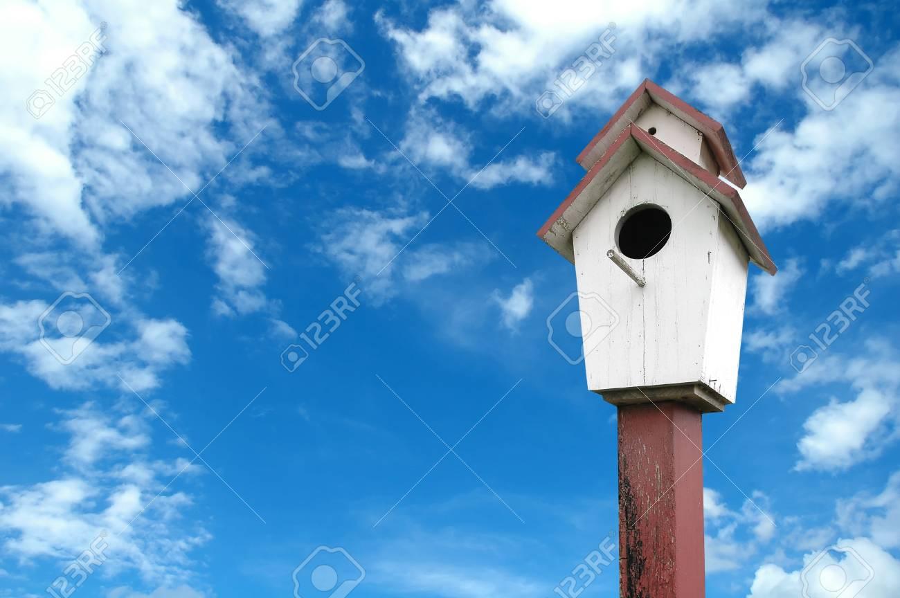 birdhouse with blue sky Stock Photo - 8393148